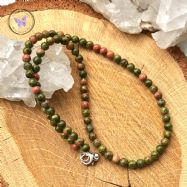 Unakite Small Bead Healing Choker Necklace